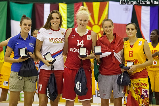All Tournament Team: Francesca Pan (ITA), Maria Vadeeva (RUS), Julia Reisingerova (CZE), Debora Dubei (HUN), Angela Salvadores (ESP)